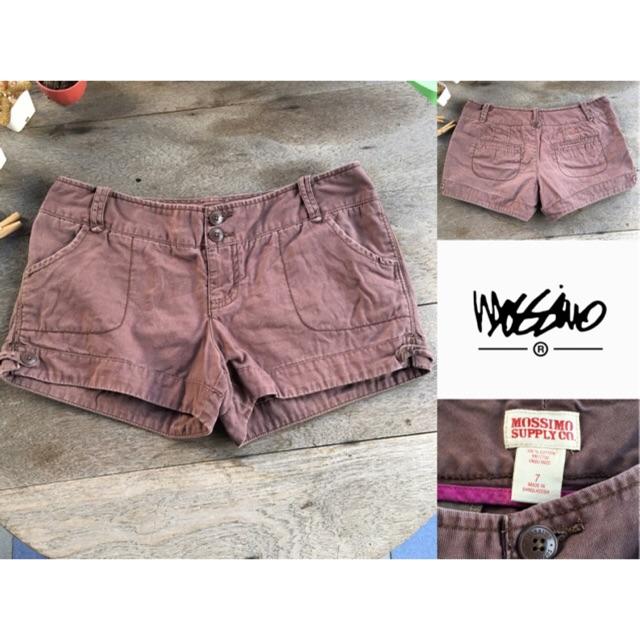 2sis1bro แบรนด์แท้ Mossimo Supply Co. กางเกงขาสั้น สีน้ำตาล มือสอง พร้อมส่ง