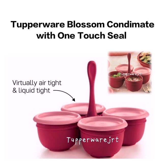 Tupperware Blossom Condimate with One Touch Seal 250ml each bowl