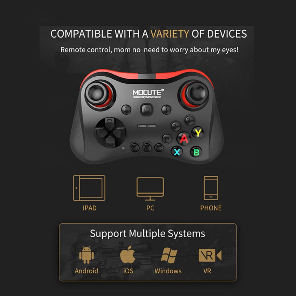 Wireless Bluetooth Game Handle Controller Remote Joystick for android/IOS/PC