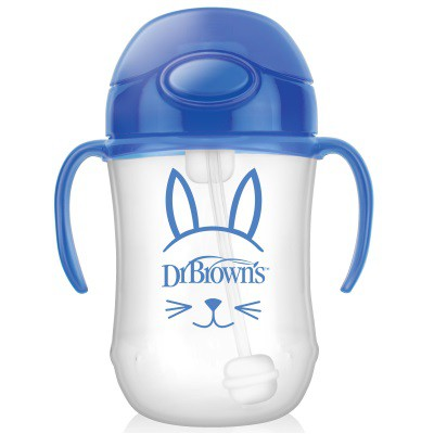 Dr Brown: Baby\'s Straw Cup 270ml - Blue