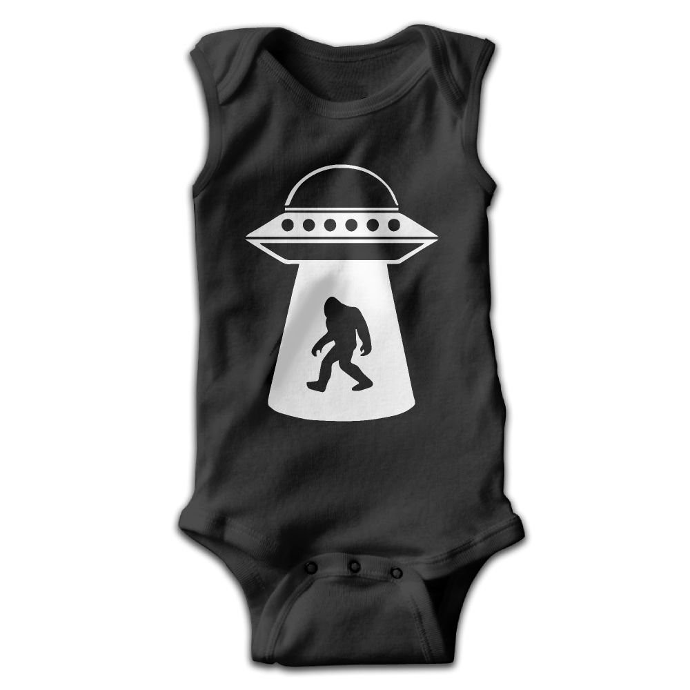 UFO Bigfoot Vintage Newborn Baby Long Sleeve Bodysuits Rompers Outfits