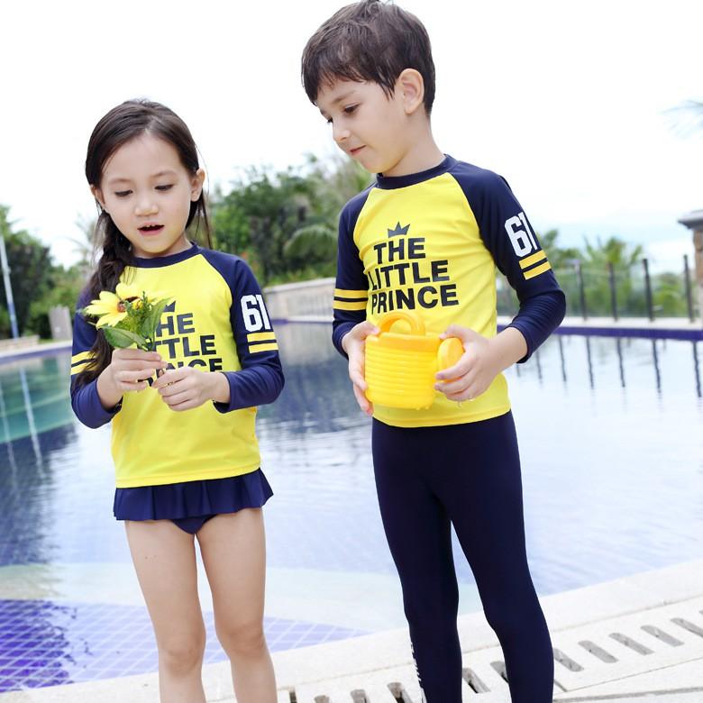 3 12y Kids Baby Boy Girl Swimming Suit Swimwear Long