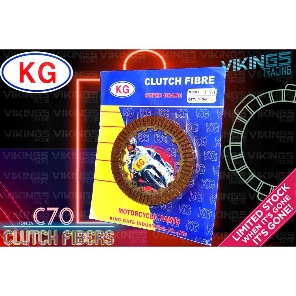 HONDA C70 2 PCS CLUTCH FIBRE DISC PLATE OEM KG SUPER GRADE