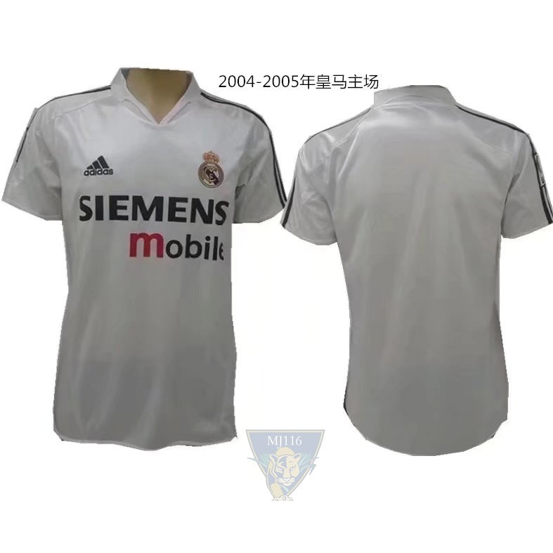 new style e53d6 cd2a1 2004-2005 Real Madrid retro jersey
