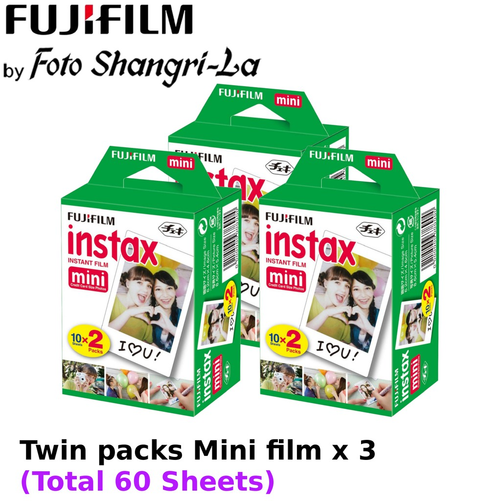 Fujifilm Instax Film Instax Mini Film Mini Film Twin Pack x 3 (60 Sheets)