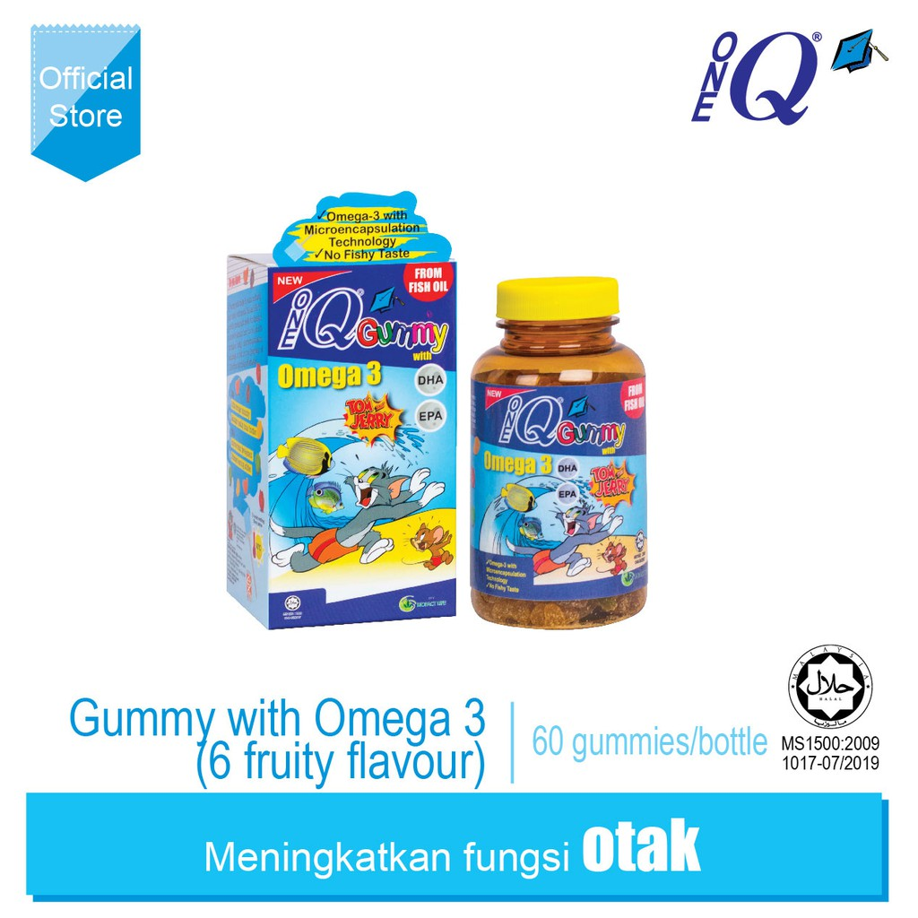 ONE Q Gummy with Omega 3 (6 fruity flavour)