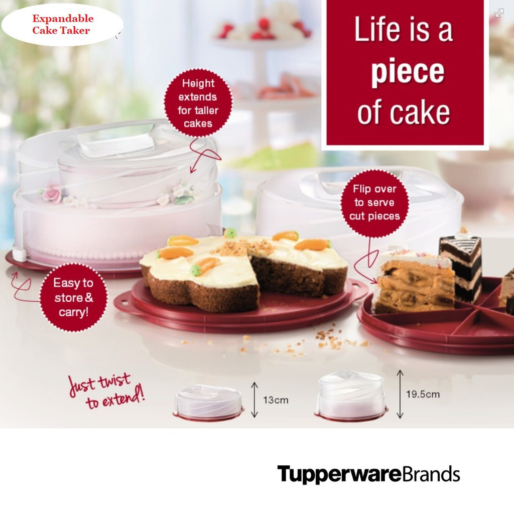 Tupperware Expandable Cake Taker (1)