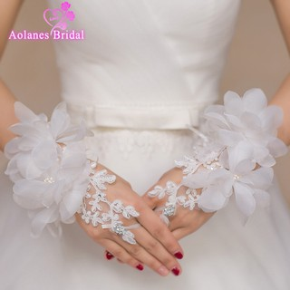 7e59ab923d8 ivory Lace Hollow Out Bridal Fingerless Gloves Long Wedding Gloves ...