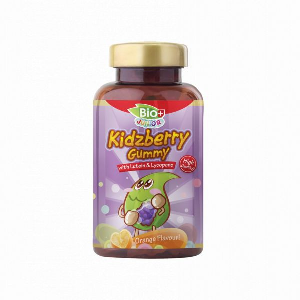BIO+ JUNIOR KIDZBERRY GUMMY WITH LUTIEN & LYCOPENE ORANGE 80'S