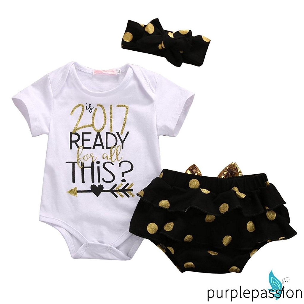fb19b62973440 SPE-Newborn Summer Baby Girl 3pcs Set Outfit 2017 READY THiS Romper +Short