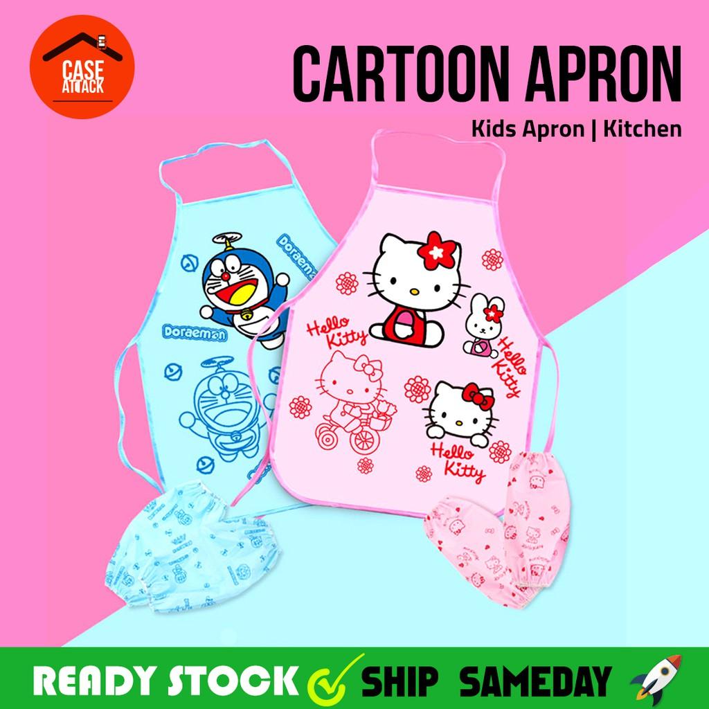 Korean version of cute cartoon princess apron kitchen oil waterproof ...