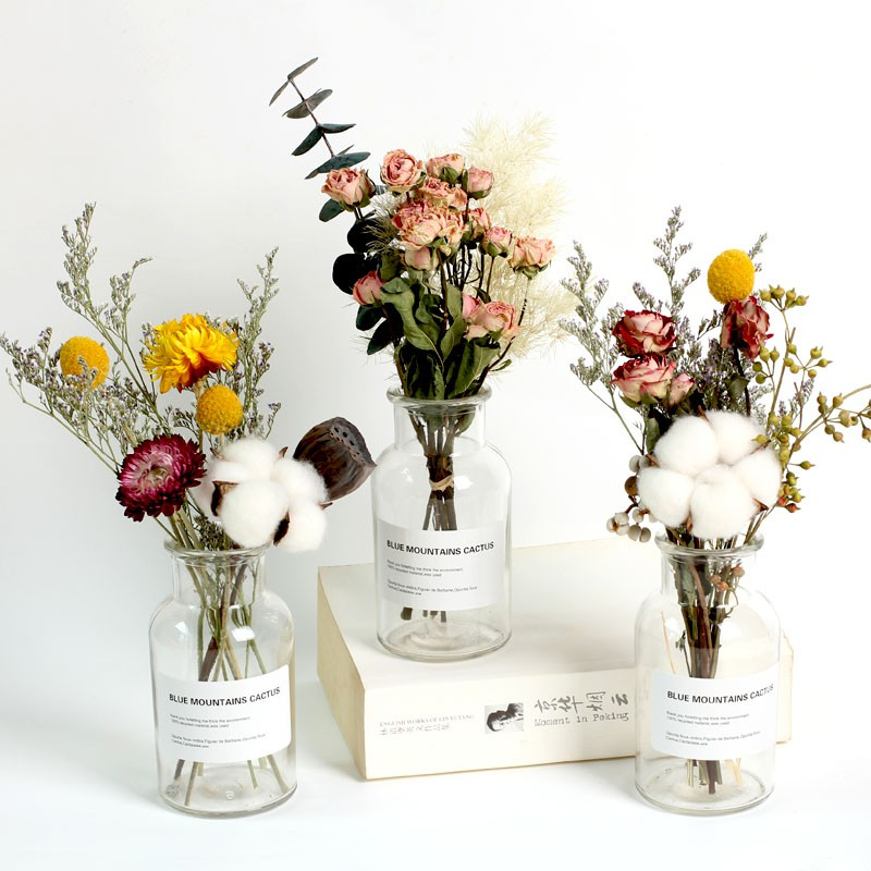 Everlasting Dry Flower Star Rose Wood Cotton Dry Flower Bouquet Home Decoration Immortal Yugali Yeins Net Red Living R