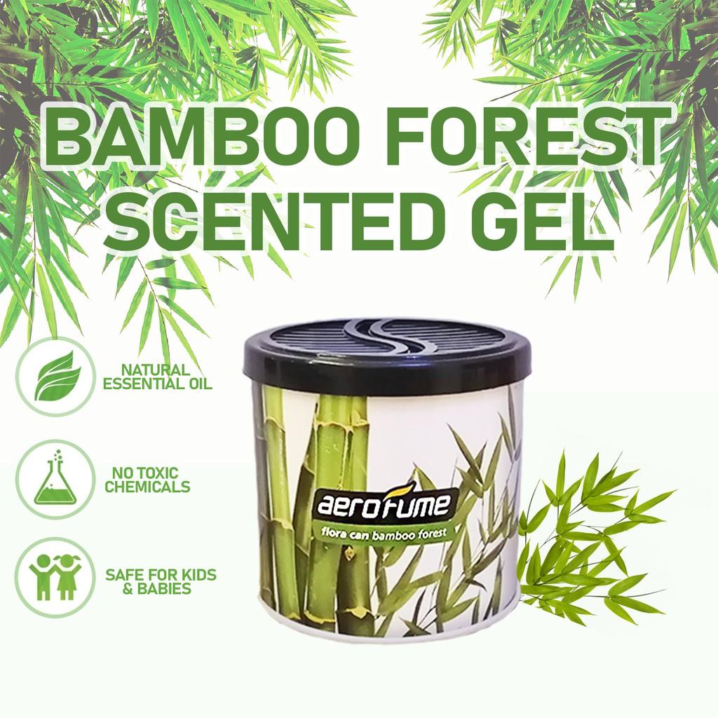 Aerofume Natural Scent Flora Scented Gel (Bamboo Forest) 70g Car Perfume Air Freshener Room Fragrance Pewangi Kereta