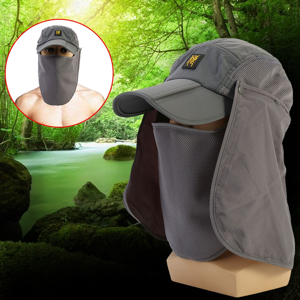 eff7ce68f13cc Unisex Quick Drying UV Protection Sun Hat with Flap Neck Cover For Outdoor  Use