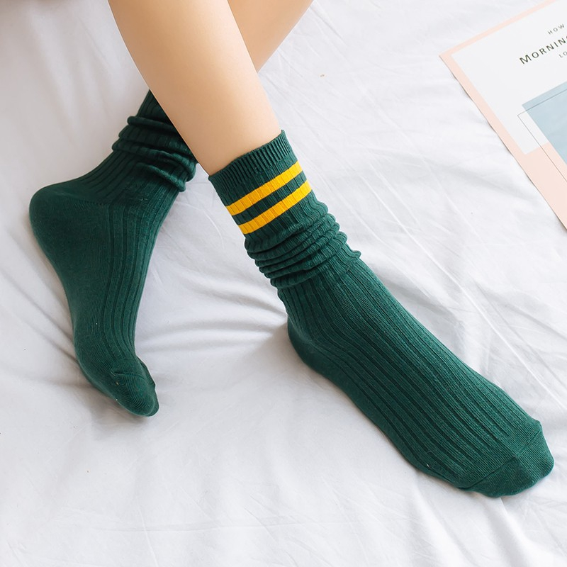 b0e7920c8d275 💗Loose Sock Cotton Winter Socks Cute Girls Solid color vintage Women pile  socks