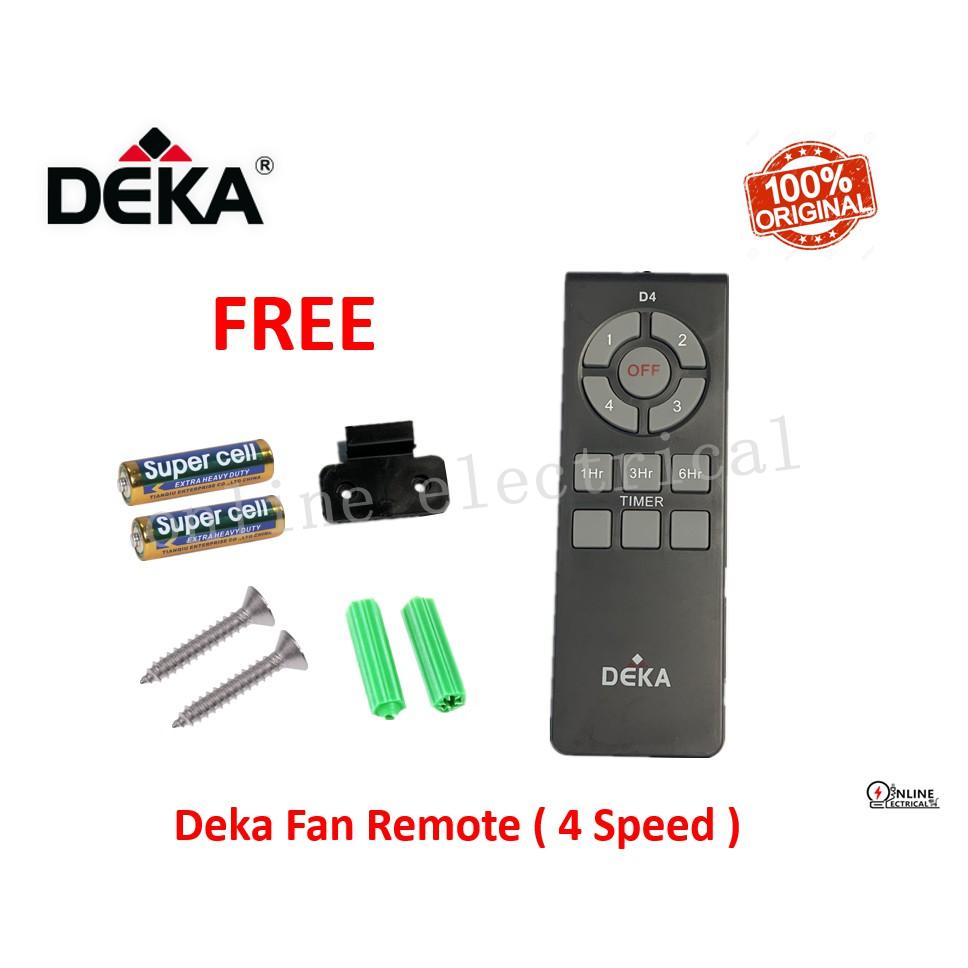 Deka Fan Remote Control ( 4 Speed )