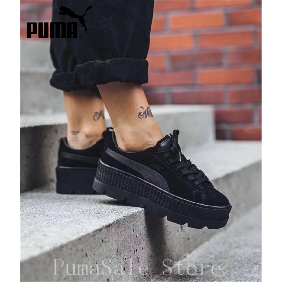 2018 PUMA FENTY Suede Cleated Creeper Wn's Badminton Shoes Rihanna First Generation Classic Basket Suede Tone Simple Wom