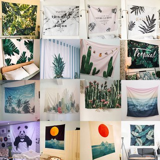 Nordic Plant Wall Hang Cloth Home Decoration Wall Covering Background  Bedroom