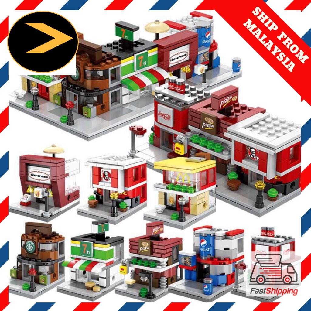 READY STOCK Lego Sembo Block City Retail Store Street View Building Blocks Educational T0ys Compatible