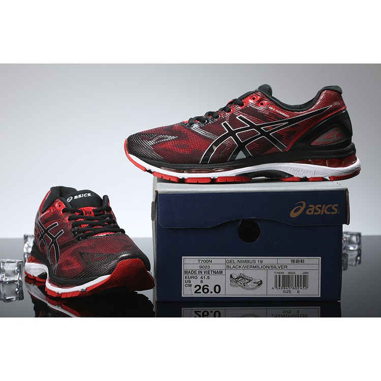 sale retailer a23f8 4518a ASICS GEL NIMBUS 19 RED VERMILLION