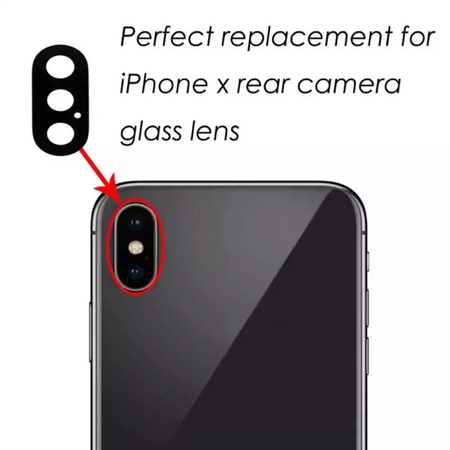 new concept 28939 a11ae Original Sapphire Camera Glass Lens Cover For iPhone X Rear Back lenses