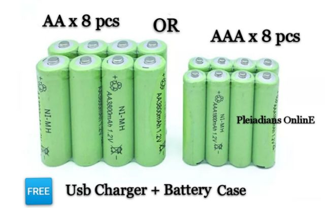AA/AAA AC/DC 12v Charger with 8 of 4AA & 4 AAA Hitech USA batteries.70%OFF Automotive Tools & Supplies