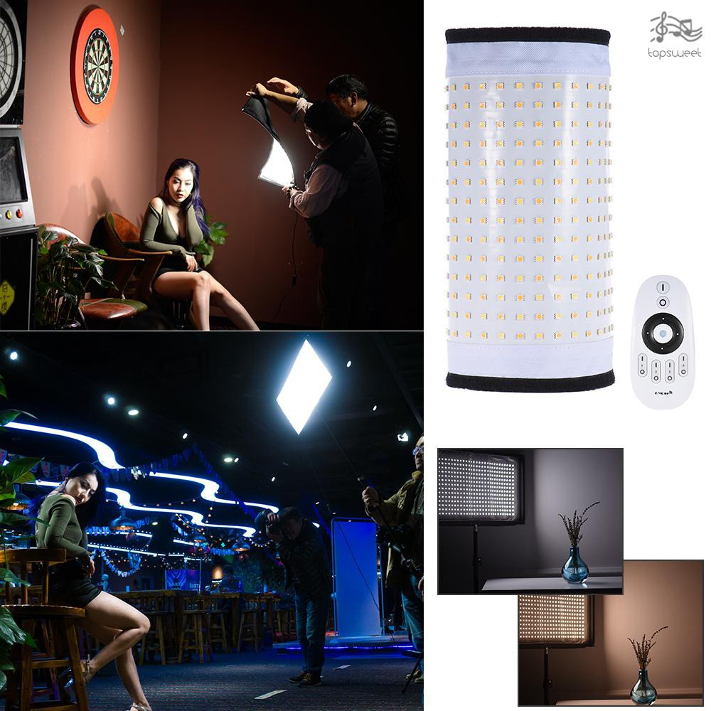 85W Max.8000LM Flexible Cloth Roll-up Handheld LED Video Photography Film Fill-in Light Panel with Remote Control Andoer FL-3060A LED Light Dual Color Temperature 3200K-5500K CRI90