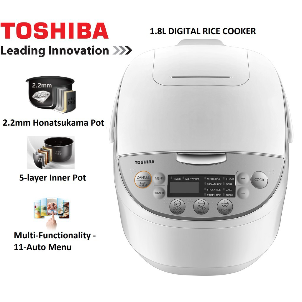Toshiba Rice Cooker With Computer RC-18DH1NMY (1.8L)/ RC-10DH1NMY (1.0L)