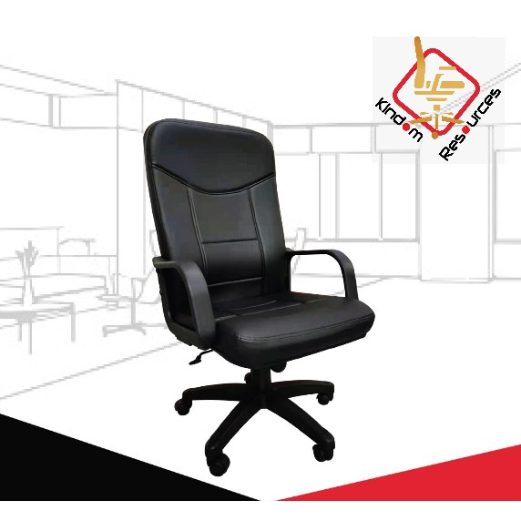 Office Director Chair Leather 8000 (Ready Stock) SHIP FROM MALAYSIA (Warranty 2 Years)(Office Chair/Office Chair Base)
