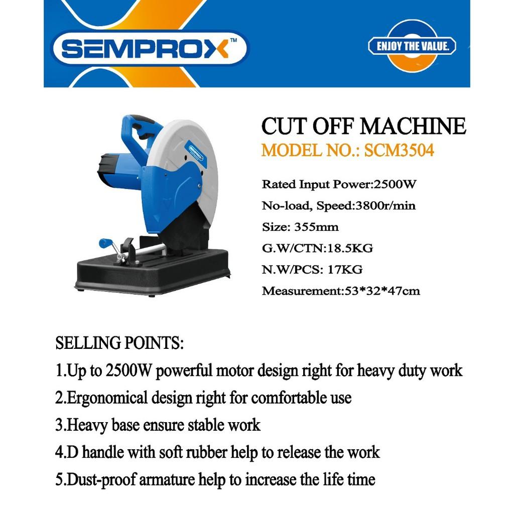 """SEMPROX SCM3504 2500W 14"""" METAL CUTTING CHOP SAW CUTTER MITRE MITER SAW"""