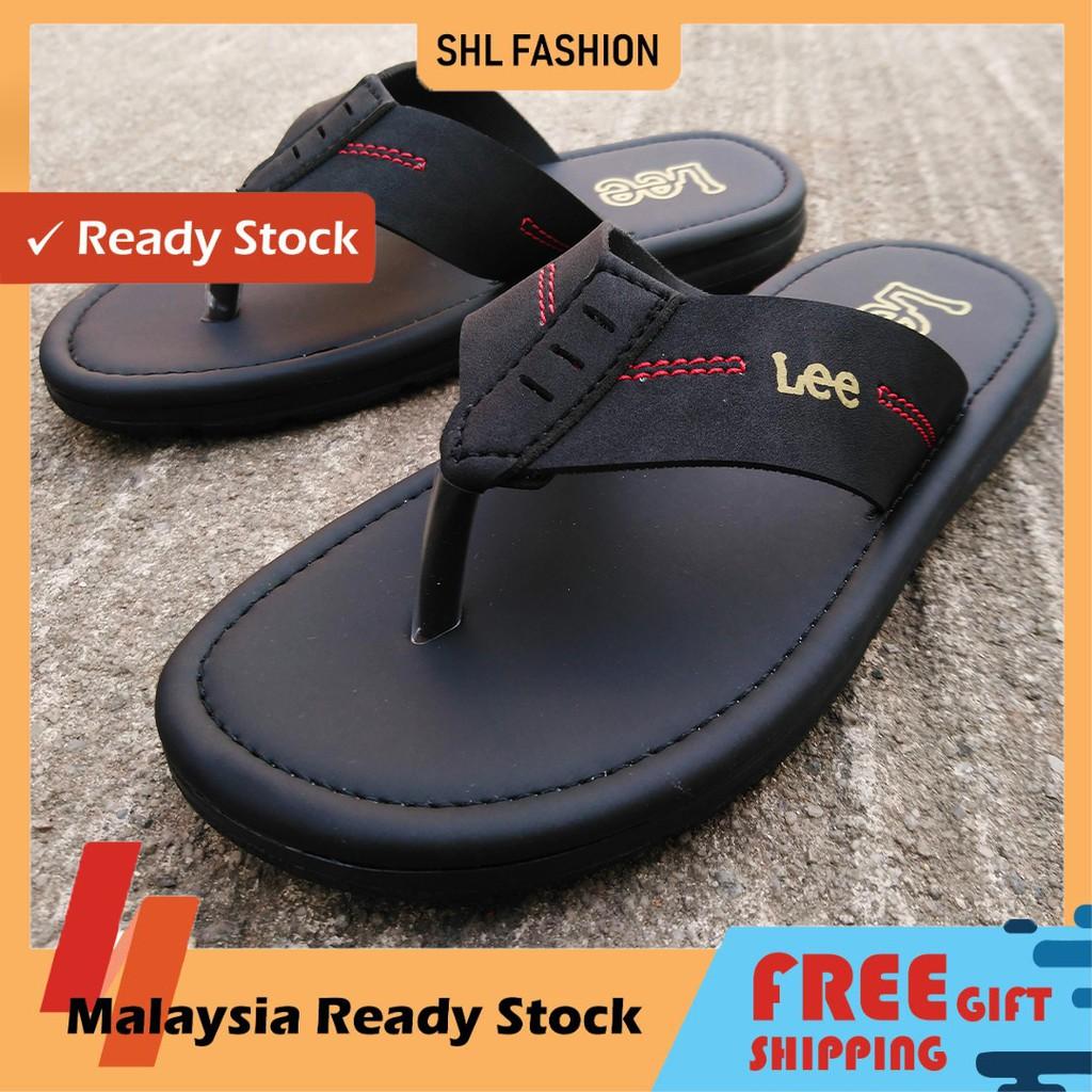 SHL Men PU Leather Sandal Advanced Selipar Kasut Lelaki size 40-44【男士拖鞋】- 9008