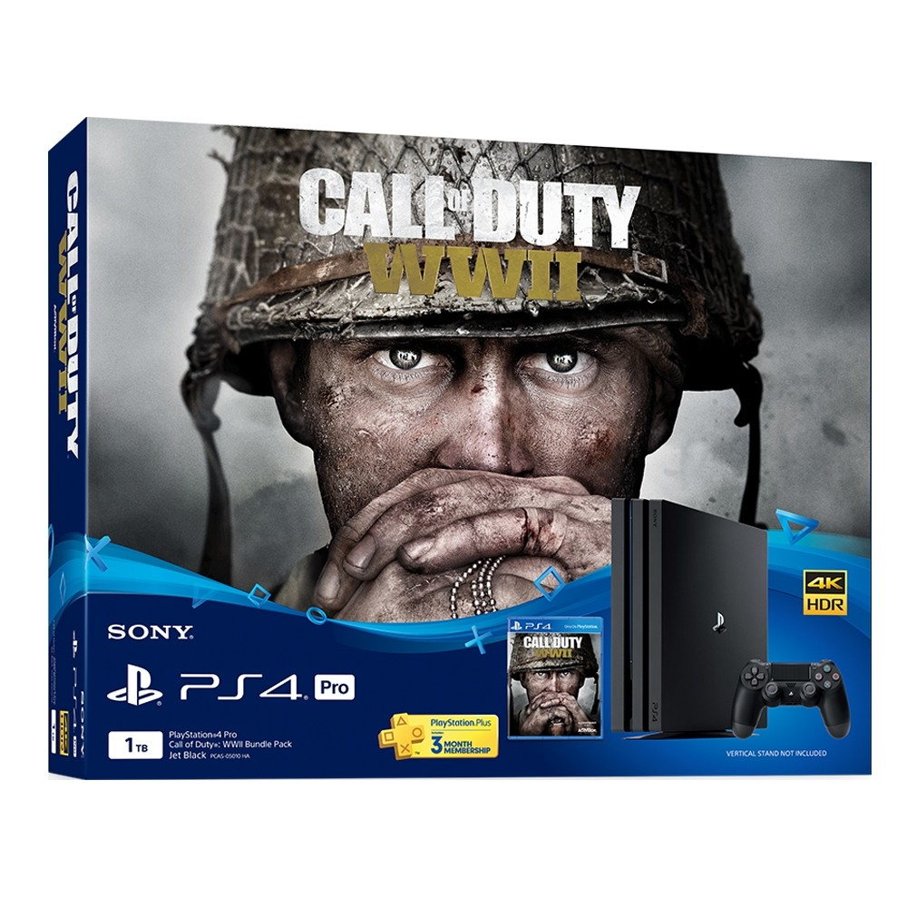 Playstation 4 Pro 1tb Codwwii Bundle Sony Malaysia Warranty Ps4 Cod Call Of Duty Limited Edition Non Dvd Shopee