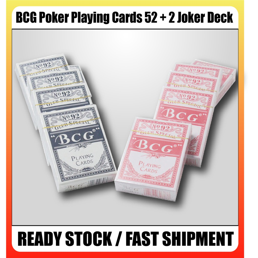 [READY STOCK] BCG Poker Playing Cards 52 + 2 Joker Deck Game Board Game LOCAL FAST DELIVERY