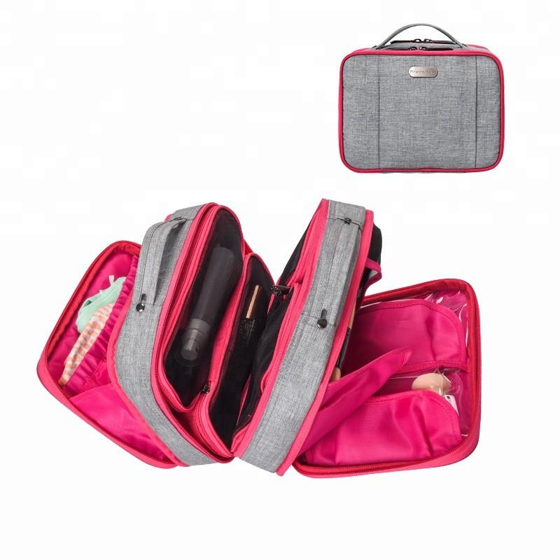 74bb200133f1 Waterproof hanging travel wash kit makeup organizer cosmetic mesh bag