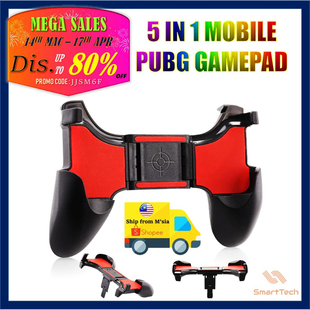 5 IN 1 PUBG Mobile Joystick Controller Mobile Legend Gamepad Gaming Trigger  Game