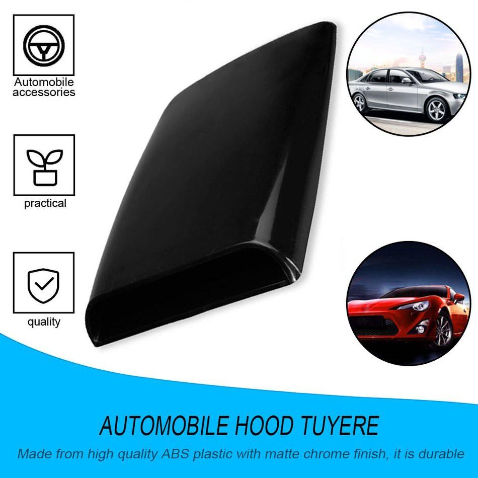 Black Acouto 2PCS Car Decorative Air Scoop Flow Intake Vent Hood Cover Bonnet Universal