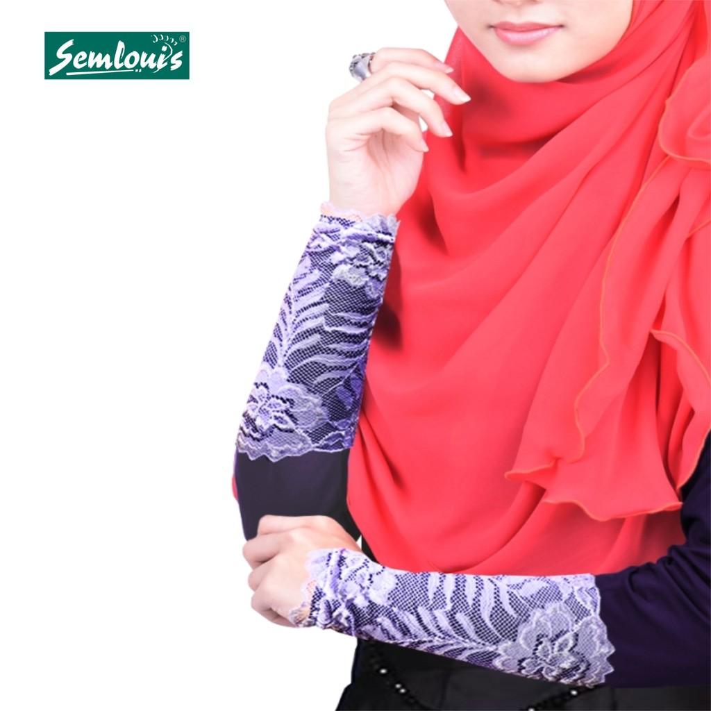 Semlouis Aurat Sarung Lengan Berenda Bunga Melur - Lace (Assorted) / Handsocks