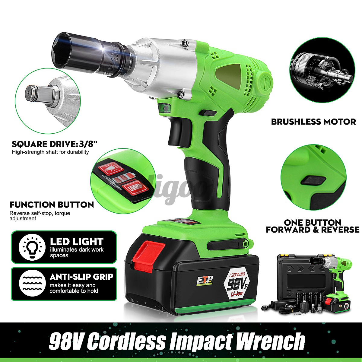 220V Electric Power Drill Driver Wrench Corded 3000RPM High Speed   !