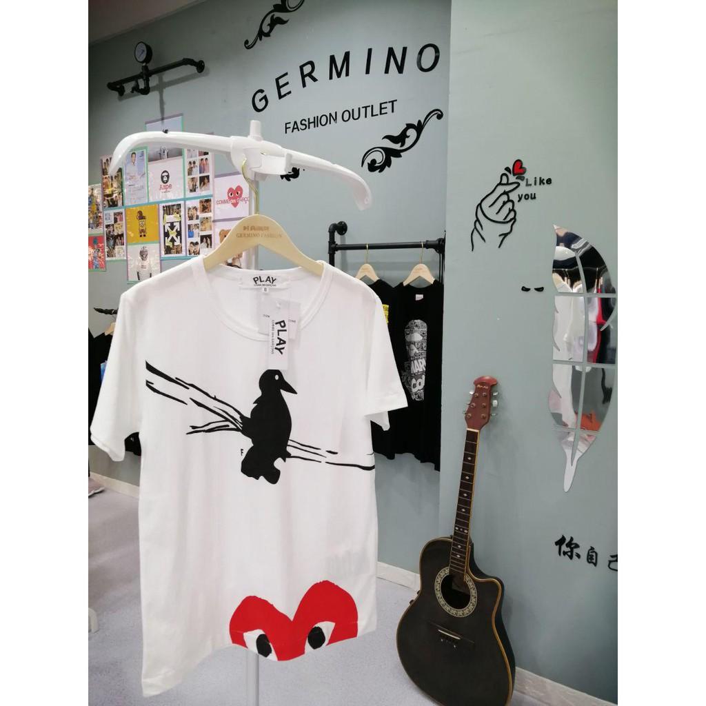 COMME des Garcons Play 8006W Premium Heart Pure Cotton T-Shirt
