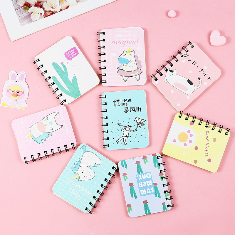 Pink Panther Unicorn Cartoon Small Coil Portable Notepad Portable