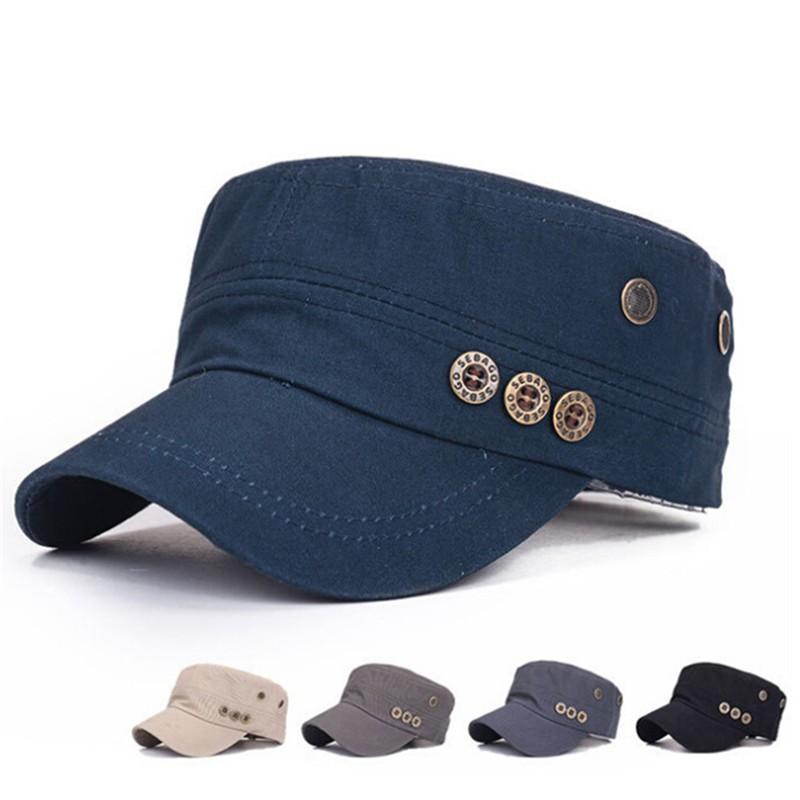 e8327bd003a76c ProductImage. ProductImage. Vintage Men Women Adjustable Classic Army Plain Hat  Cadet Baseball Cap