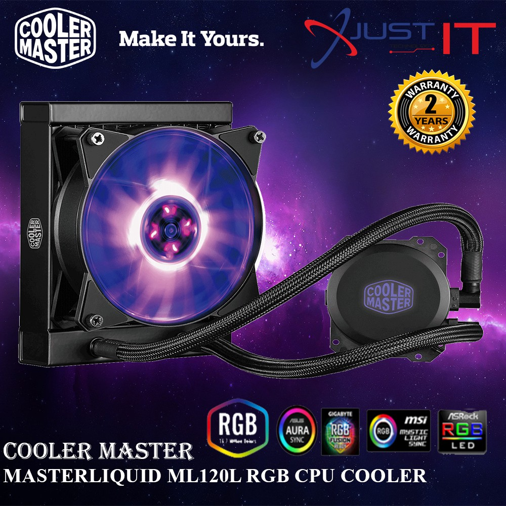COOLER MASTER MASTERLIQUID ML120L RGB CPU COOLER