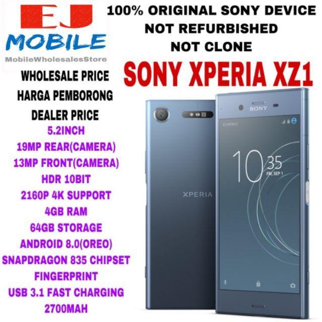 SONY XPERIA XZ1(4+64GB)(100% ORIGINAL SONY DEVICE)(USED 95% PERFECT  CONDITION)