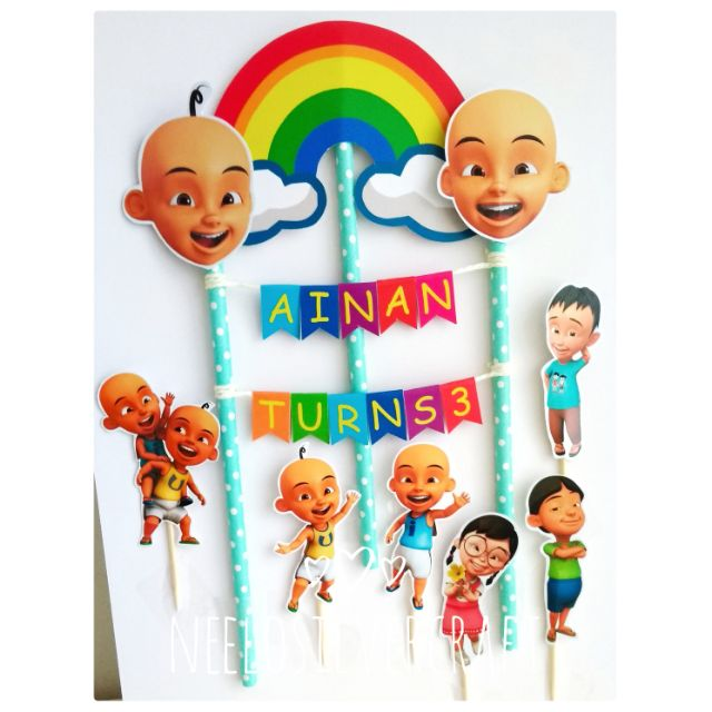 upin ipin dan kawan kawan cake topper for birthday cake shopee