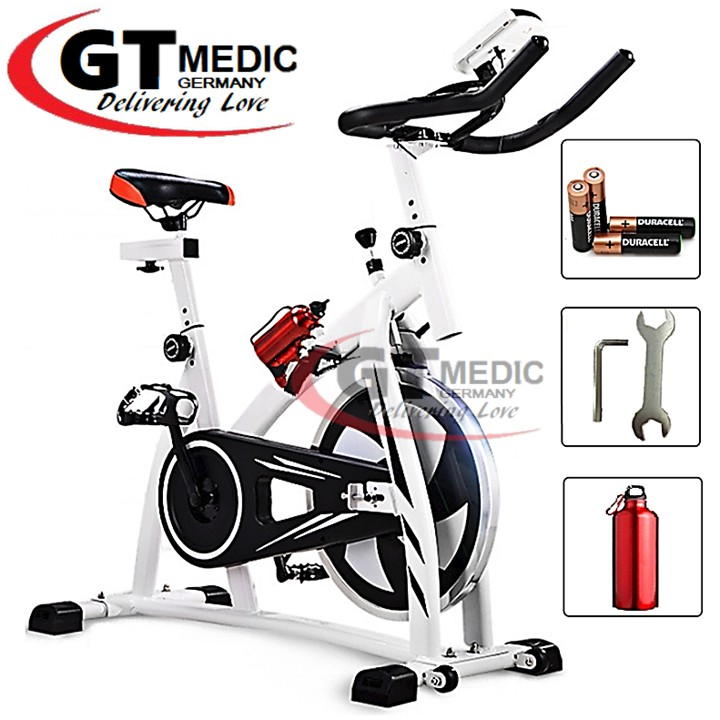 FREE GIFT  Fitness Iron Wheel Exercise Bicycle Cycling Gym Fitness Spin Bike