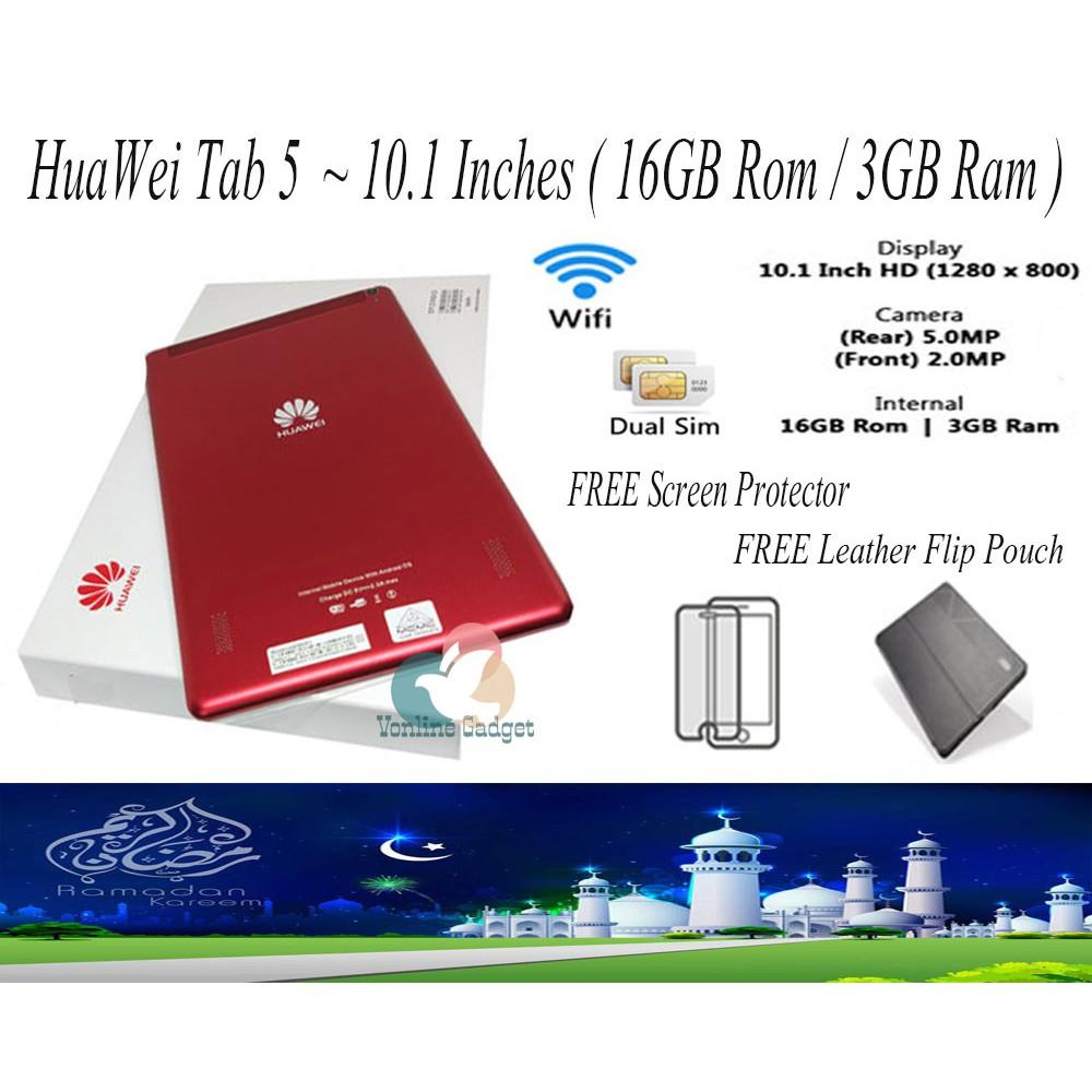 Ready Stock ! HuaWei Tab 5 10 1'' HD Tablet ( 16GB ROM & 3GB Ram )