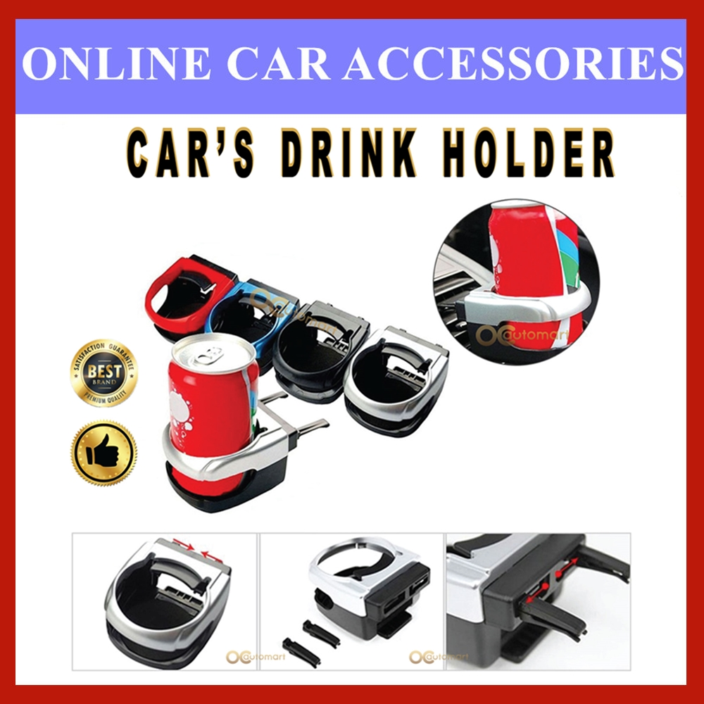 {Ready Stock} Universal Car Perfume Cup Drink Bottle Can Holder Stand Mount Tin Bottle Bottle Perfume Vanzo Carall
