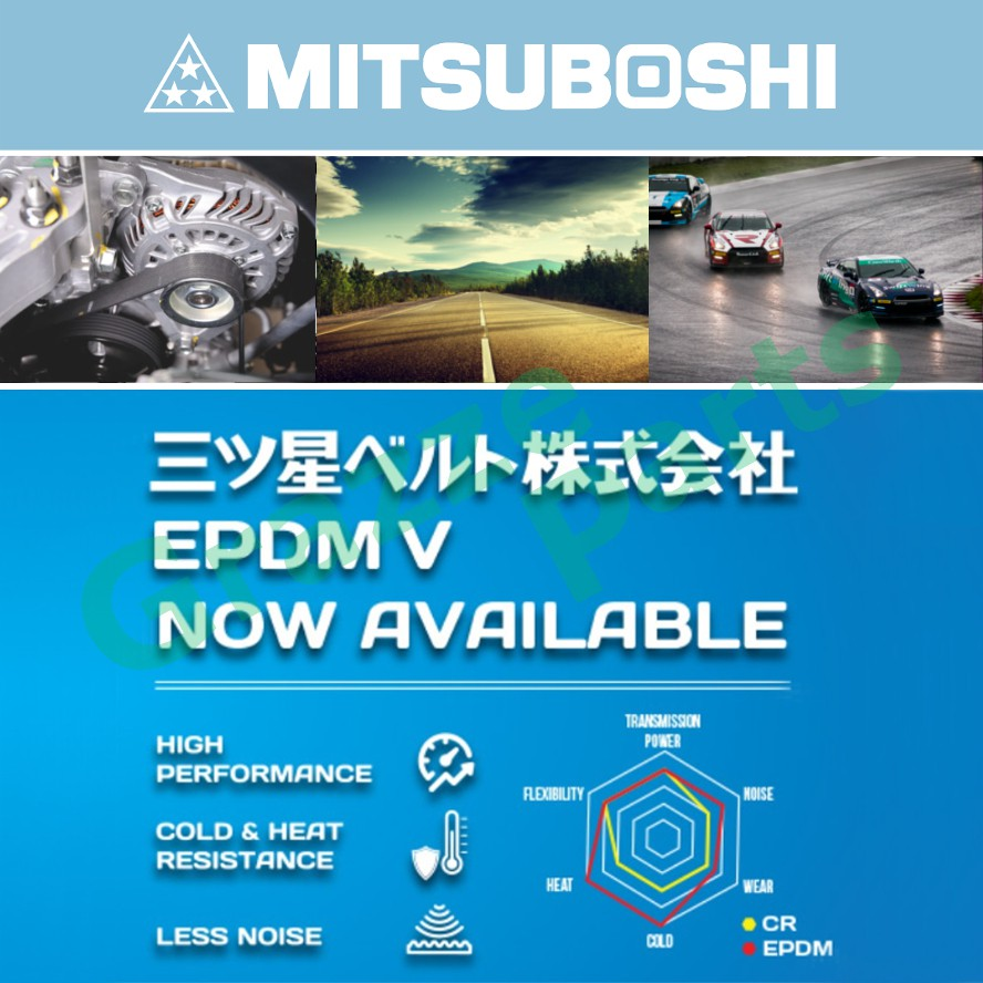 Mitsuboshi Ribstar Belt 3PK670 for Fiat Brava 1.6