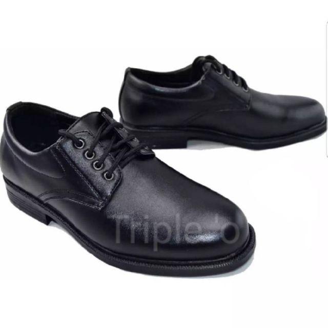 รองเท้าหนังผูกเชือก สีดำ CSB 545 ไซส์