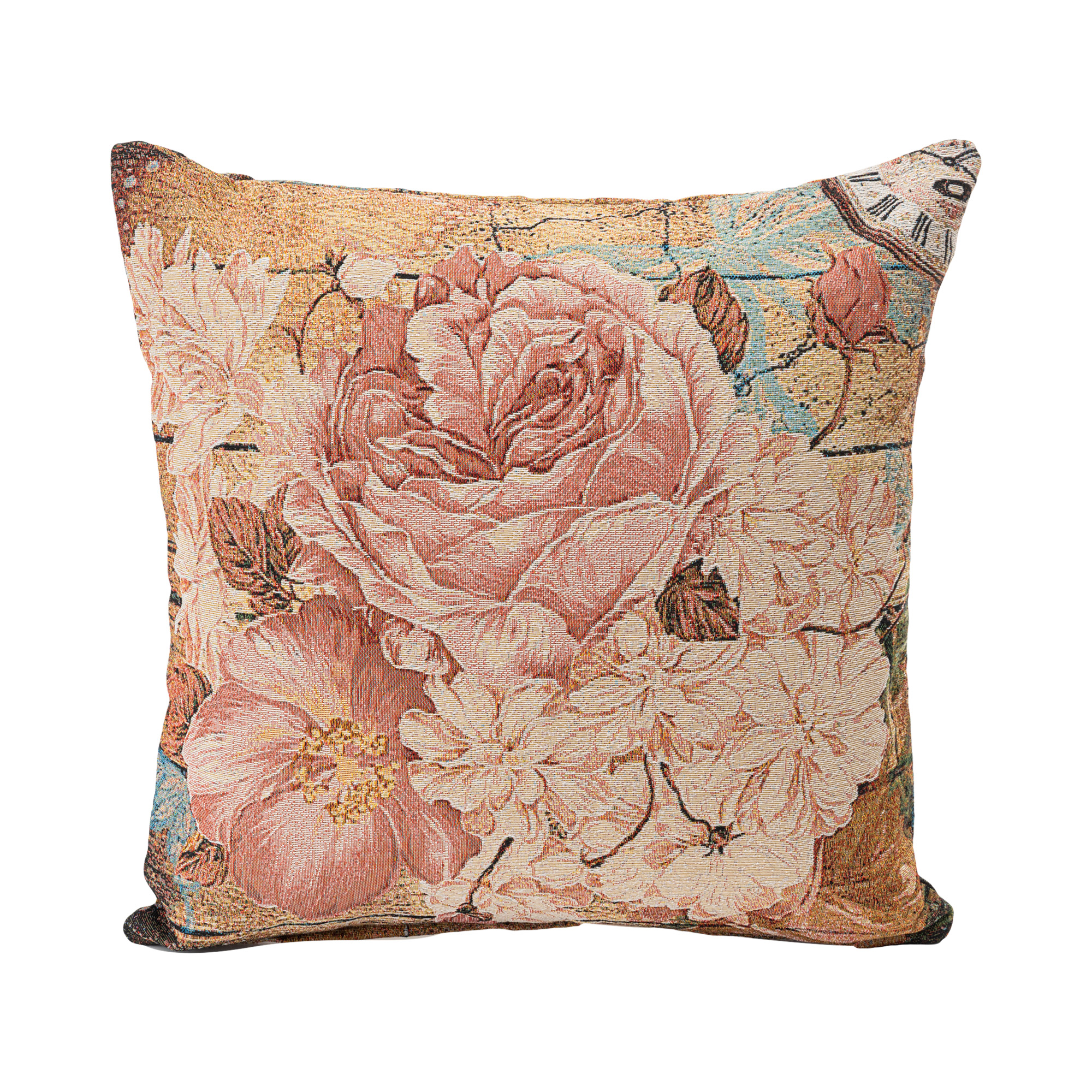 """Glory Jacquard Woven Cushion Cover/Throw Pillow. Double-Sided Easy Care Polycotton. 45x45cm/18x18""""(Multicolor)"""